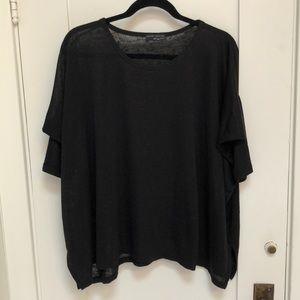 Zara black short sleeve swing sweater
